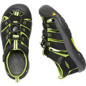 Keen Newport H2 Sandals Ungdom black/lime green
